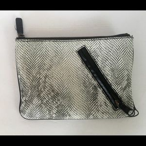 Gap Snakeskin Clutch